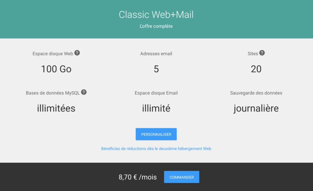 Hébergement Web+Mail Infomaniak