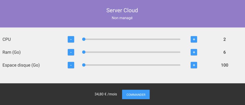 Serveur Cloud Non Managé