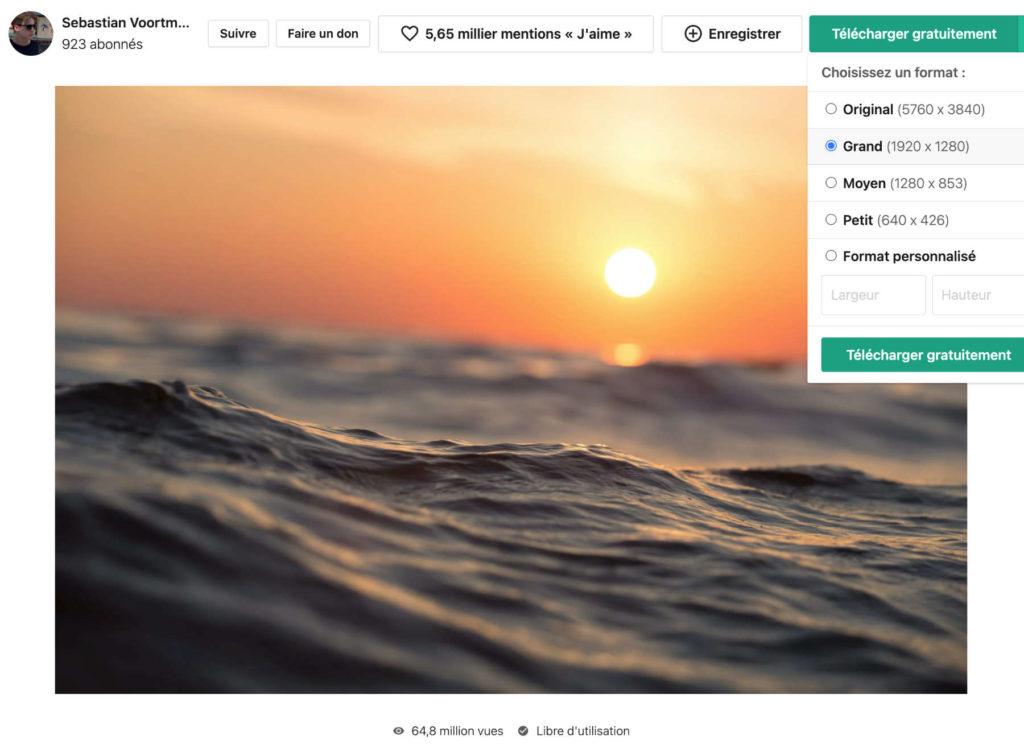 Téléchargement d'une photo libre de droits sur Pexels